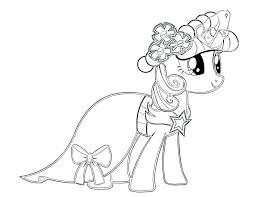 Princess Twilight Sparkle Coloring Pages My Little Pony Alicorn