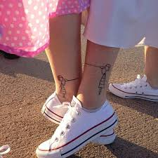 Cute Matching Sister Foot Tattoos