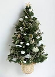 Seashell Christmas Tree Garland by Beach Themed Christmas Trees Christmas Tree Wall Hanging