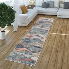 wohnzimmer teppich kurzflor geometrisches buntes real de