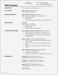 Sample Resume College Dropout Elegant For High School Rh Jonahfeingold Com First Year