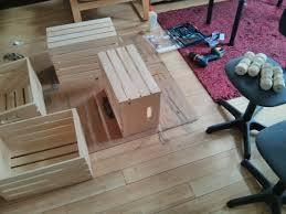 DIY Repurposed Wine Crates Coffee Table