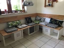 eckbank mit ikea kallax gebaut kleine wohnung küche