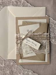 Custom Listing 100 Rustic Wedding Invitation Buralp Invitations Lace