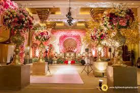 Arvin And Gabbys Wedding Reception Venue At Grand Hyatt Hotel Jakarta Decorated By