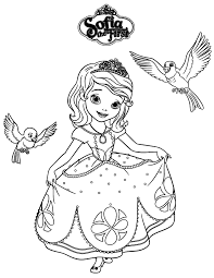Sofia The First Robin And Mia Coloring Page Is One Of Many Images From Pages Printable