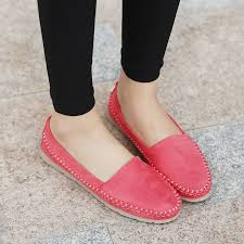 SIKETU New Fashion Soft Women Loafers Platform Lovely Girl Flat Shoes Slip On College Style 4 Colors Driving In Womens Flats From