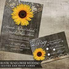 Best 25 Sunflower Wedding Invitations Ideas On Pinterest Rustic