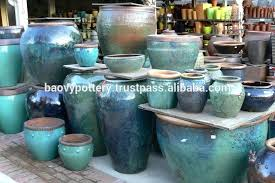 Rustic Garden Planters Glazed Outdoor Ceramic Flower And Pots Large Metal