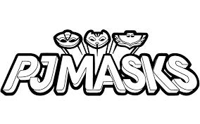 PJ Masks Logo Coloring Page