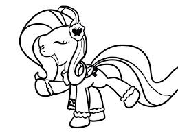 My Little Pony Coloring Pages Princess Twilight Sparkle Alicorn Printable Beautiful Page Mlp