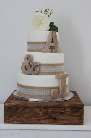 Rustic Wedding Cake Toppers Personalised Small