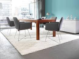 weiß teppich luxus teppich esszimmer design teppich