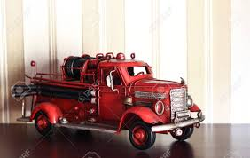 100 Fire Truck Wallpaper Car Plastic Model Of An Old Classic Red On A Stripped