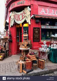 100 The Portabello Shop On The Portobello Road In London England Stock Photo