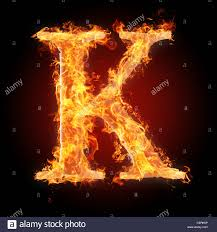Letter K In Fire For More Words Fonts And Symbols See My Portfolio