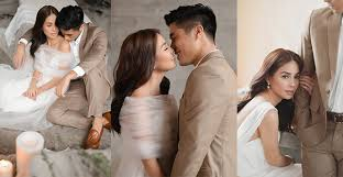 Celebrities Kaye Abad And Paul Jake Castillos Pre Wedding Shoot With Bride Breakfast Is All About Simplicity Elegance Understated Sophistication