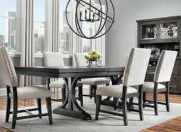 Raymour And Flanigan Dining Rooms New Chair Ideas 7 Set Espresso A