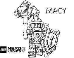 LEGO Nexo Knights Coloring Page Macy Printable Color Sheet