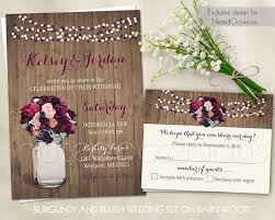 Country Garden Wedding Invitations Boho Chic Romantic Rustic Brown Multicolor Pink Purple B With
