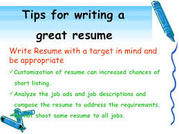 How To Write A Excellent Resume by Tips To Writing A Great Resume Capricious How To Write A Great