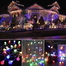 Globe String Lights Room Lights Decor String With Remote Control 100 LED Patio Lights Outdoor Indoor For Waterproof Room Decor Party Patio Garden