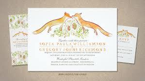 Fox Love Wedding Invitations