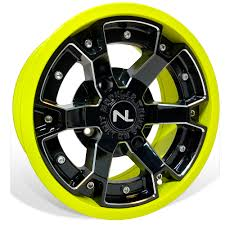 100 14 Inch Truck Tires No Limit Deuce Inch ATV UTV Wheels In Lime Squeeze