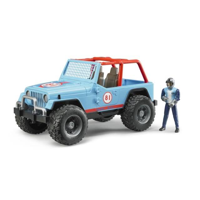 Bruder Jeep Cross Country Racer Vehicle with Driver Blue
