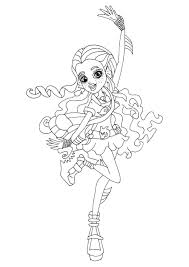 Free Printable Monster High Lagoona Blue Ghouls Night Out Coloring Page