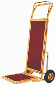 Red Carpeted 2 Wheel Hotel Hand Truck