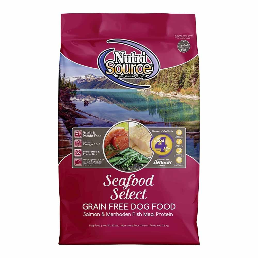 Nutrisource Grain Free Dry Dog Food - Seafood Select, 5lbs