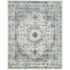 7 X 9 Distressed Blue Area Rugs Rugs The Home Depot