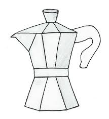 Moka Pot Coffee Maker Drawing By Olivialee14