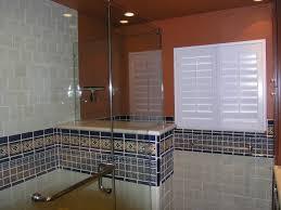 mexican tile border shower area mexican home decor gallery