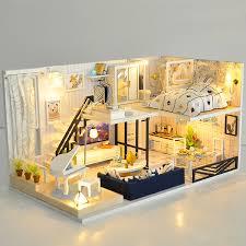 MDF Bausatz Villa Tara Dollhouse Miniatures Small Barbie House