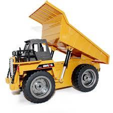 1:18 2.4G 6CH Remote Control Alloy Dump Truck RC Truck Big Dump ...