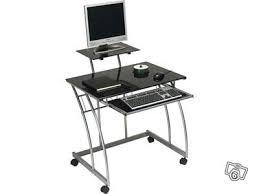 bureau ordinateur en verre bureau noir en verre mes occasions com