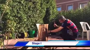 how to make a table from a tree stump youtube