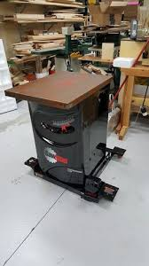 Cabinet Table Saw Mobile Base by Sawstop Assembly 1 First Step To Stand The Cabinet Saw Upright