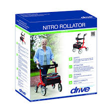 Invacare Transport Chair Manual by Drive Nitro 4 Wheel Rollator