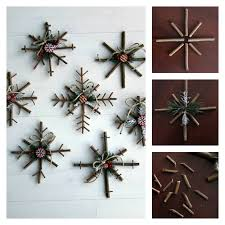 DIY Rustic Twig Snowflakes Tutorial Made Some Last Year They Are So Fun Holiday IdeasChristmas