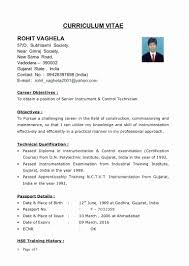 Resume Format Mechanical Engineer Fresher Lovely Sample For Diploma Engineers