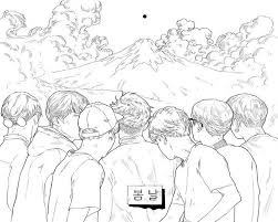Bts Colouring Book Page By Peacheschild