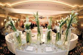 Ivory And White Flowers Linens In Ballroom