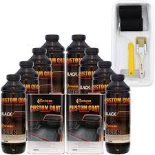 100 Roll On Truck Bed Liner Amazoncom Custom Coat Black 8 Liter Urethane Brush Or