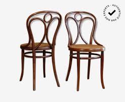 chaises thonet paire de chaises bistrot thonet n 19 engelstuhl fin xx wood