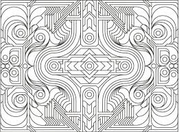 Geometric Design Coloring Pages Printable And Colouring For Kids 9