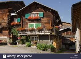 100 Log Cabins Switzerland Cabins In A Village Vrin Stock Photo 87472141 Alamy