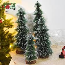 Dip White Cedar Mini Christmas Tree Small Pine Flocked Pagoda Decorations Desktop Ornaments Online Shopping